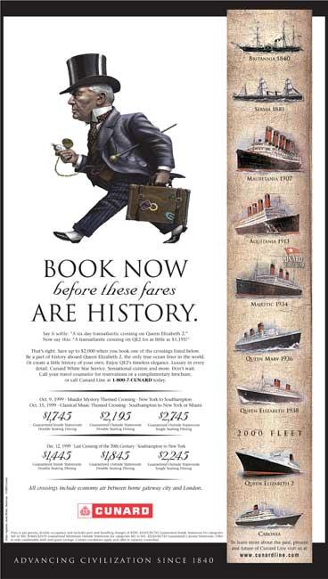 Cunard - Book now