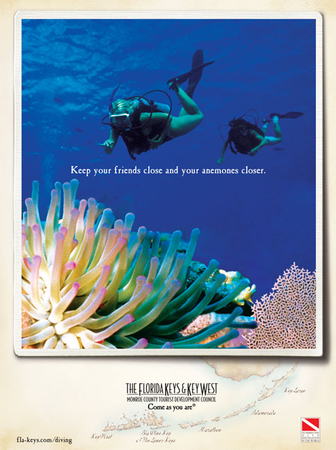 The Florida Keys & Key West- Keep your friends close and your anemones closer.