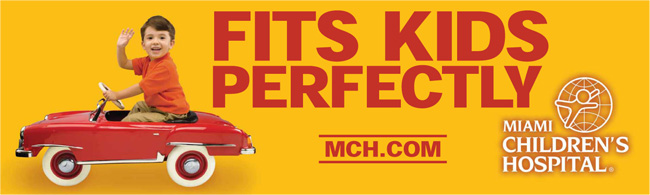 Miami Children's Hospital - Fits Kids Perfectly Banner