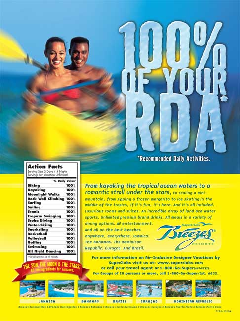 Super Clubs Breezes - 100% of your RDA