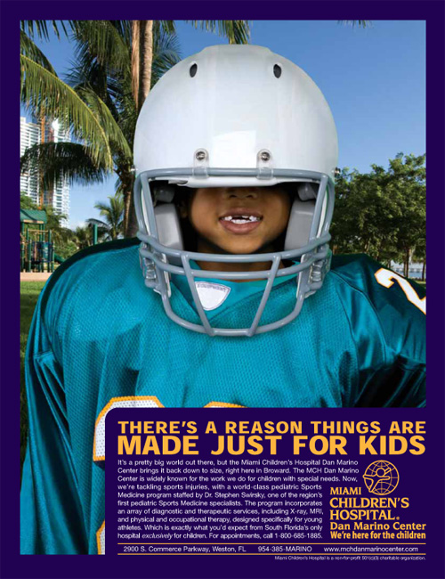 Miami Children's Hospital - There's a reason things are made just for kids